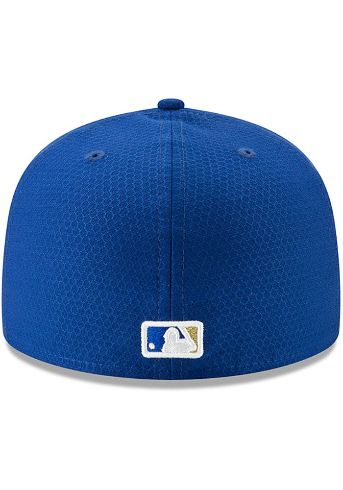 New Era Kansas City Royals Mens Blue Batting Practice 2019 59FIFTY Fitted Hat - Image 5