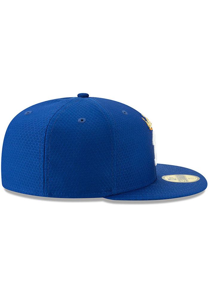 New Era Kansas City Royals Mens Blue Batting Practice 2019 59FIFTY Fitted Hat - Image 6