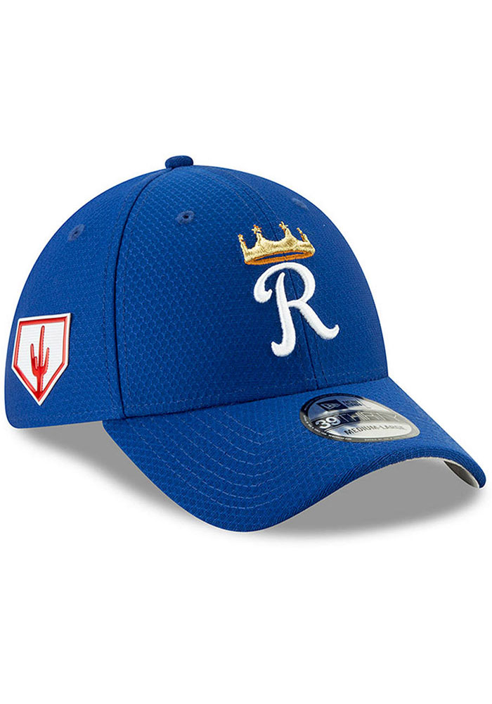 94779bef103 New Era Kansas City Royals Blue Spring Training BP 2019 39THIRTY Flex Hat