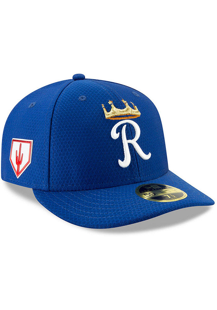 c5f73e550f6 Kansas City Royals New Era Blue Spring Training BP 2019 LP 59FIFTY Fitted  Hat