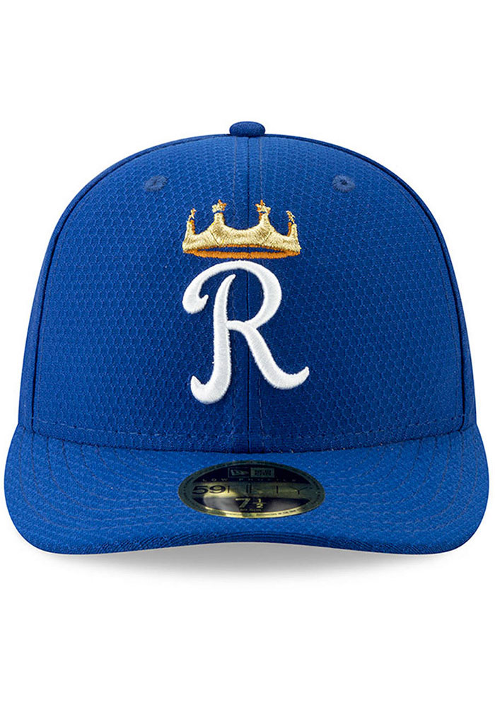New Era Kansas City Royals Mens Blue Spring Training BP 2019 LP 59FIFTY Fitted Hat - Image 2