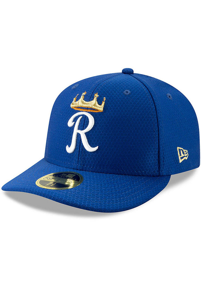New Era Kansas City Royals Mens Blue Spring Training BP 2019 LP 59FIFTY Fitted Hat - Image 3