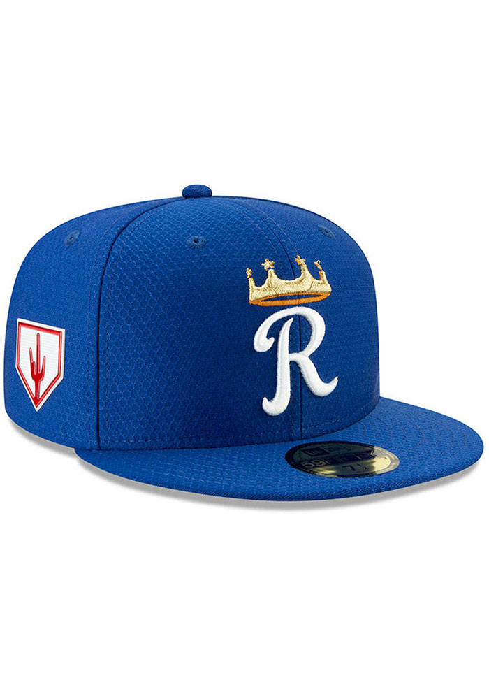 7ffe285e52b Kansas City Royals New Era Blue Spring Training BP 2019 59FIFTY Fitted Hat