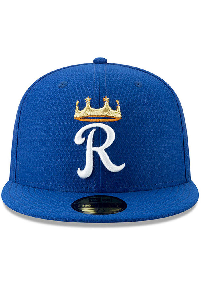 New Era Kansas City Royals Mens Blue Spring Training BP 2019 59FIFTY Fitted Hat - Image 2