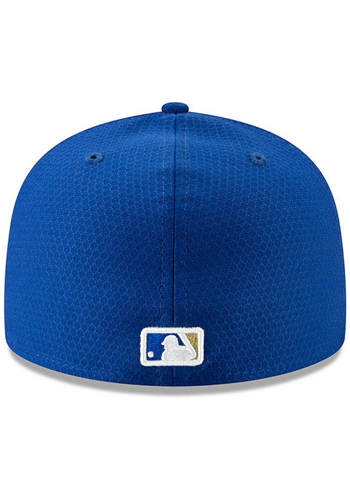New Era Kansas City Royals Mens Blue Spring Training BP 2019 59FIFTY Fitted Hat - Image 4
