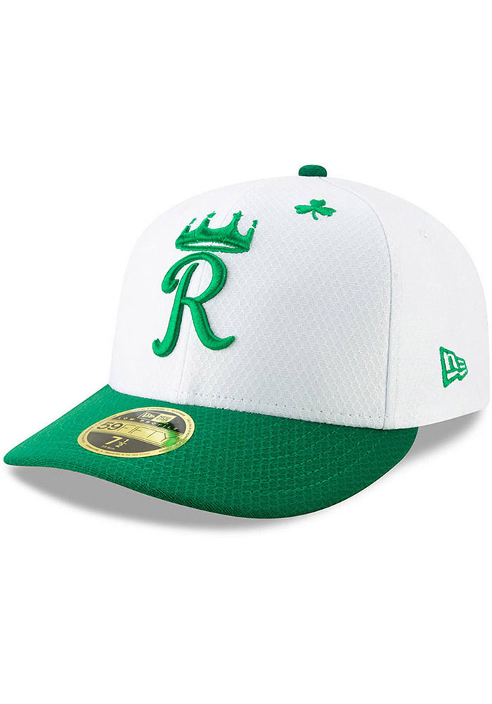 New Era Kansas City Royals Mens White St. Patty's Day 2019 LP 59FIFTY Fitted Hat - Image 1
