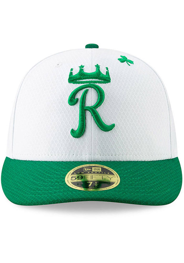 New Era Kansas City Royals Mens White St. Pattys Day 2019 LP 59FIFTY Fitted Hat - Image 2