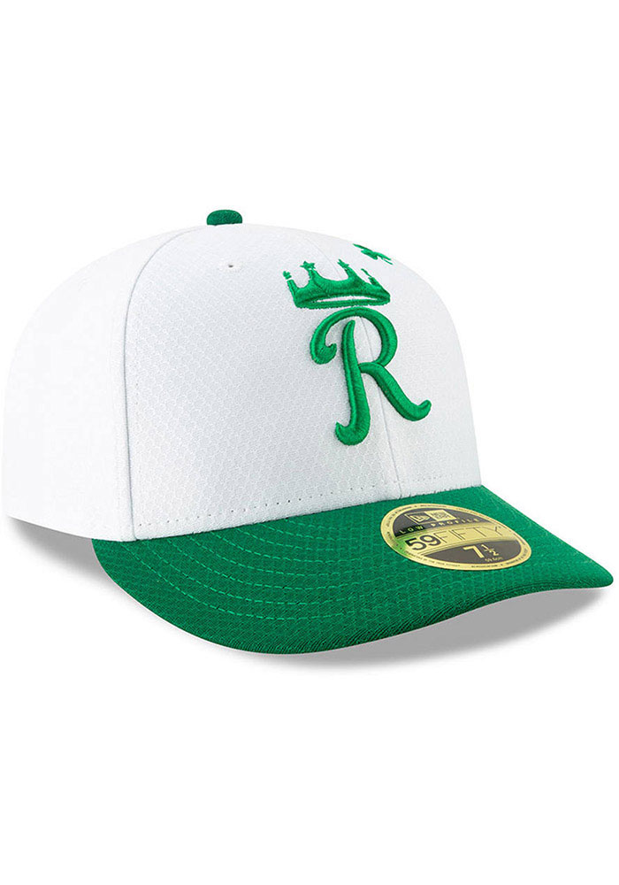 New Era Kansas City Royals Mens White St. Patty's Day 2019 LP 59FIFTY Fitted Hat - Image 3