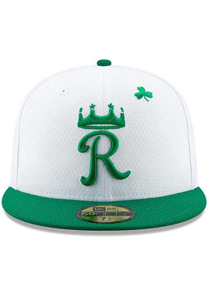 New Era Kansas City Royals Mens White St. Patty's Day 2019 59FIFTY Fitted Hat - Image 2