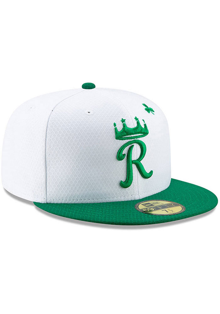 New Era Kansas City Royals Mens White St. Patty's Day 2019 59FIFTY Fitted Hat - Image 3