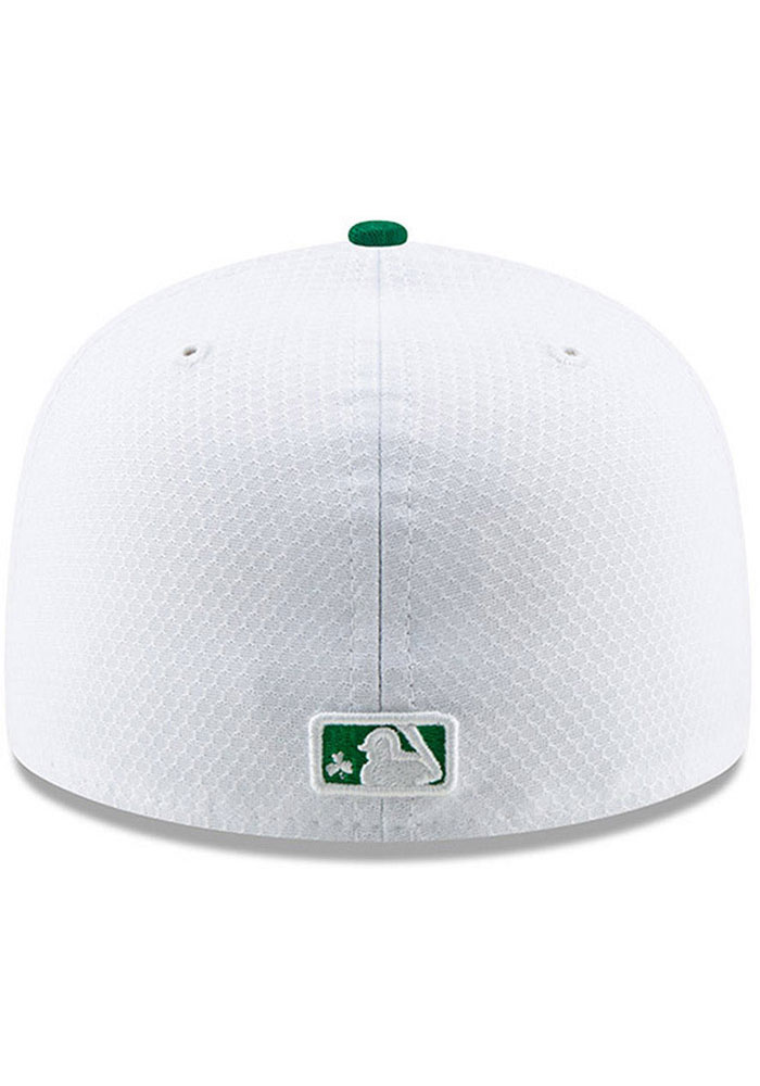 New Era Kansas City Royals Mens White St. Patty's Day 2019 59FIFTY Fitted Hat - Image 4