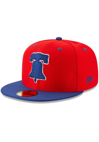 newest 95653 a8c48 Philadelphia Phillies New Era Red Batting Practice 2019 59FIFTY Fitted Hat
