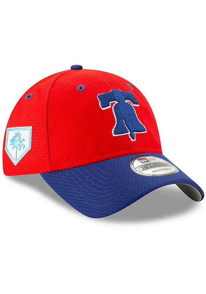New Era Philadelphia Phillies Red Spring Training BP 2019 9TWENTY  Adjustable Hat 32947c6486ad