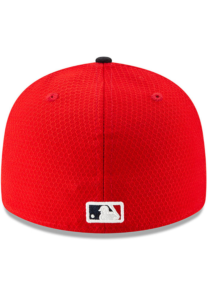 New Era St Louis Cardinals Mens Red Batting Practice 2019 LP 59FIFTY Fitted Hat - Image 5