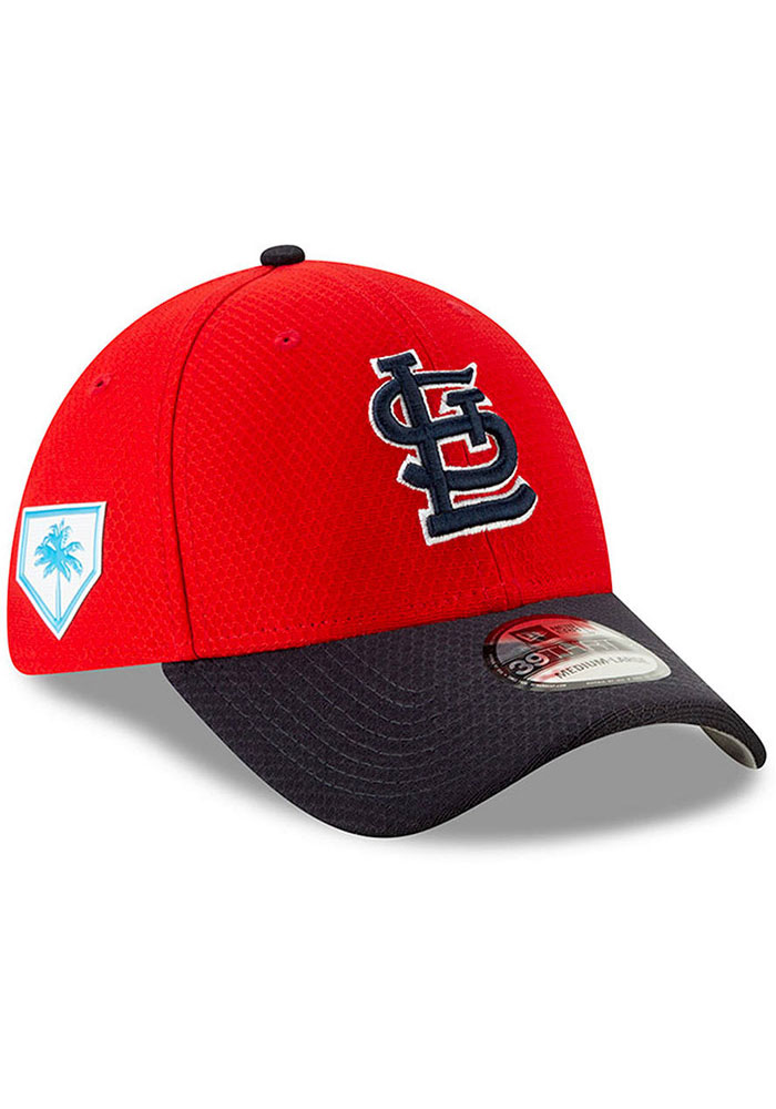 New Era St Louis Cardinals Mens Red Spring Training BP 2019 39THIRTY Flex Hat - Image 1