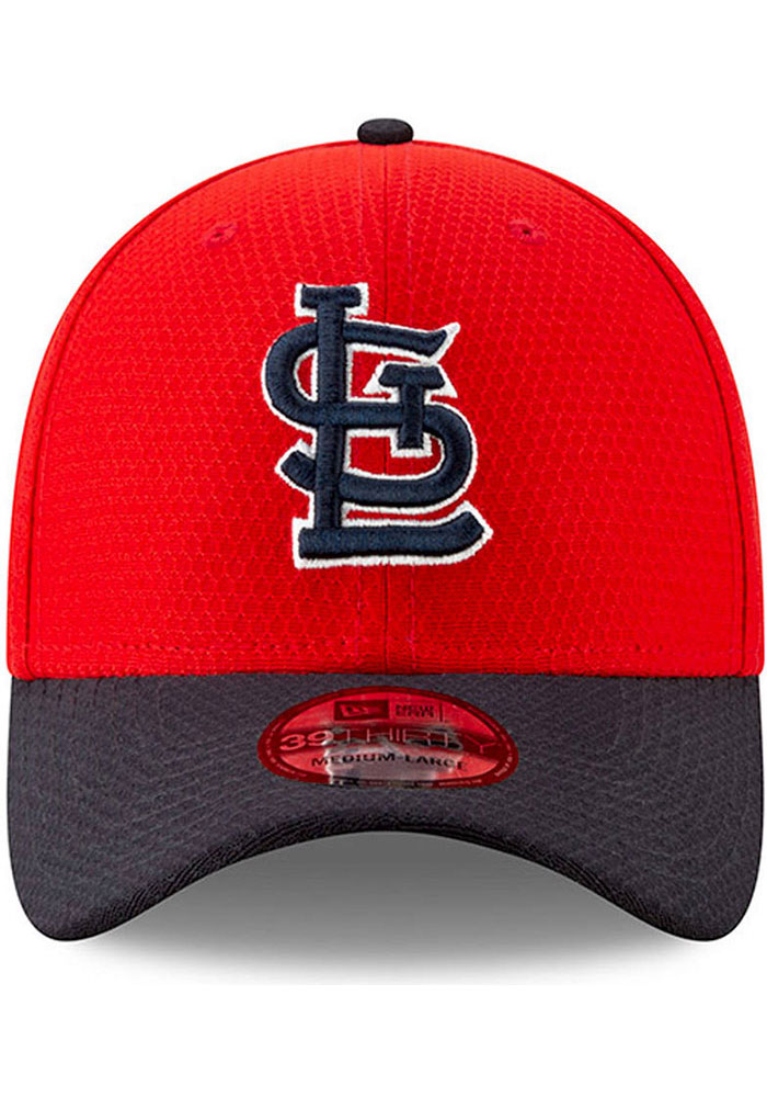 New Era St Louis Cardinals Mens Red Spring Training BP 2019 39THIRTY Flex Hat - Image 2