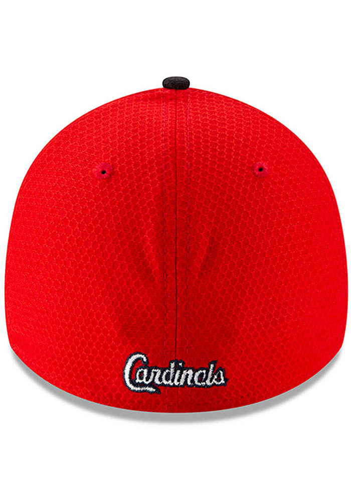 New Era St Louis Cardinals Mens Red Spring Training BP 2019 39THIRTY Flex Hat - Image 4