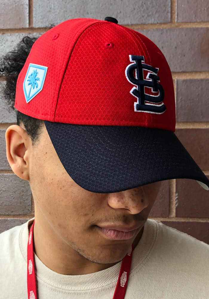 New Era St Louis Cardinals Mens Red Spring Training BP 2019 39THIRTY Flex Hat - Image 5
