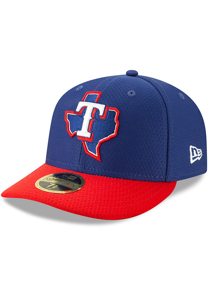 New Era Texas Rangers Mens Blue Batting Practice 2019 LP 59FIFTY Fitted Hat - Image 1