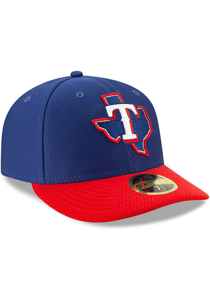 New Era Texas Rangers Mens Blue Batting Practice 2019 LP 59FIFTY Fitted Hat - Image 2