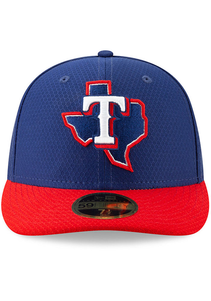 New Era Texas Rangers Mens Blue Batting Practice 2019 LP 59FIFTY Fitted Hat - Image 3