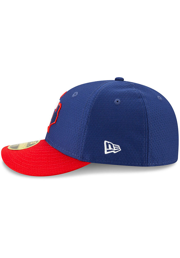 New Era Texas Rangers Mens Blue Batting Practice 2019 LP 59FIFTY Fitted Hat - Image 4