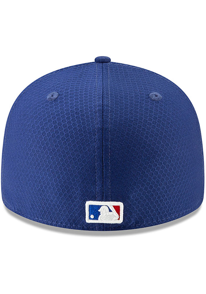 New Era Texas Rangers Mens Blue Batting Practice 2019 LP 59FIFTY Fitted Hat - Image 5