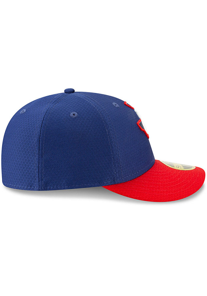 New Era Texas Rangers Mens Blue Batting Practice 2019 LP 59FIFTY Fitted Hat - Image 6