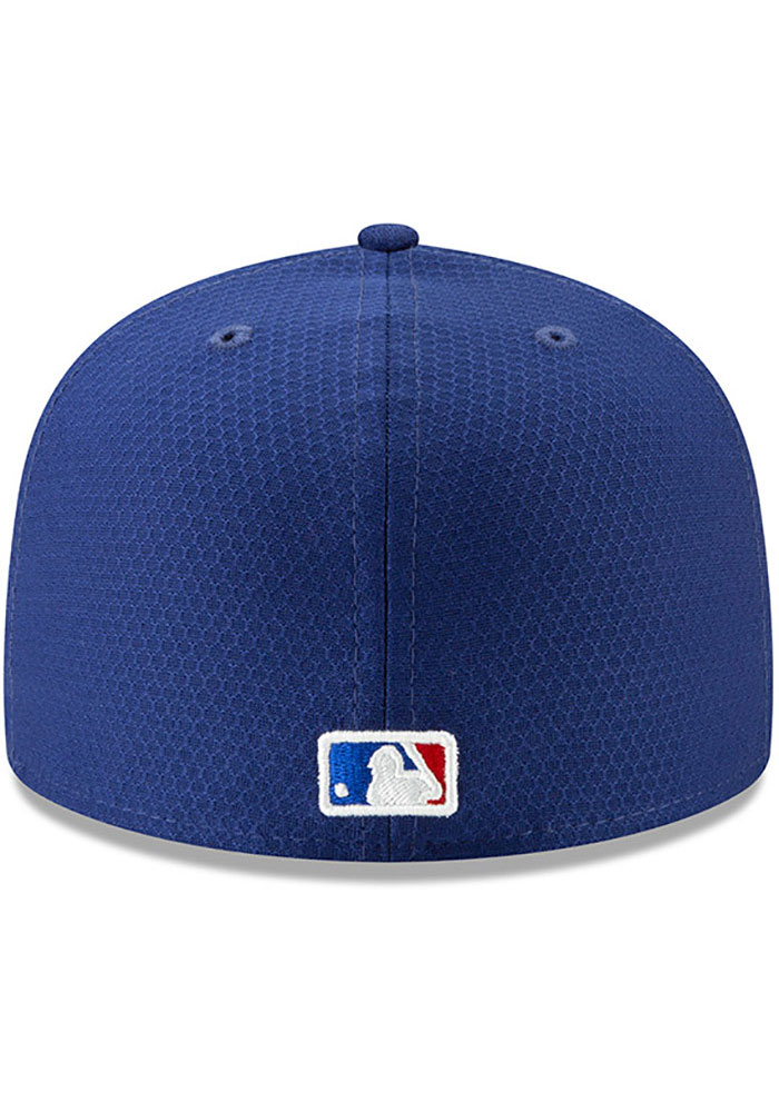 New Era Texas Rangers Mens Blue Batting Practice 2019 59FIFTY Fitted Hat - Image 4