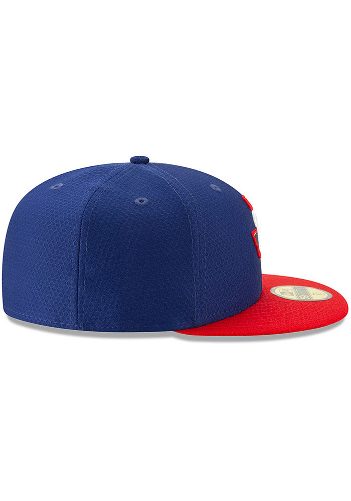 New Era Texas Rangers Mens Blue Batting Practice 2019 59FIFTY Fitted Hat - Image 5