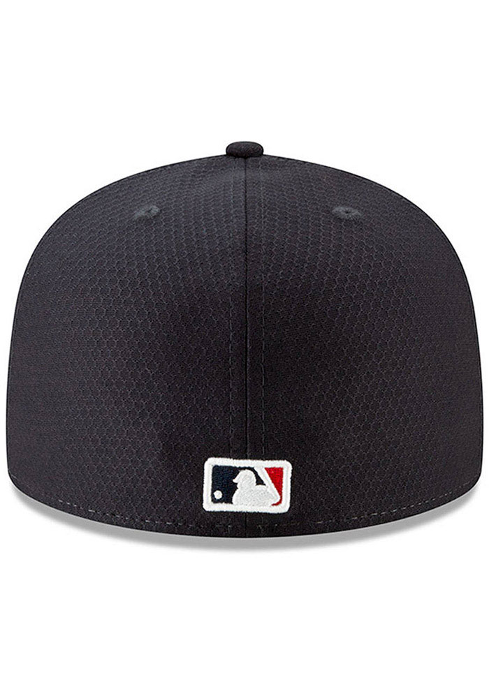 New Era Cleveland Indians Navy Blue Batting Practice 2019 JR 59FIFTY Youth Fitted Hat - Image 4