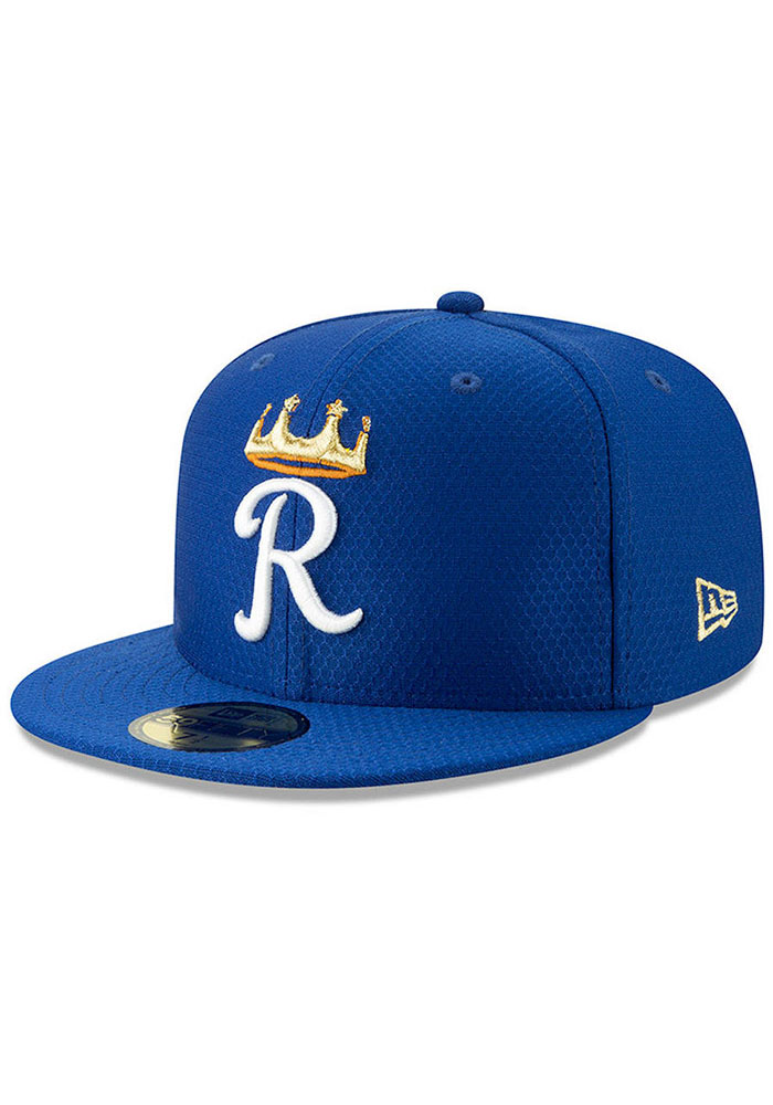 New Era Kansas City Royals Blue Batting Practice 2019 JR 59FIFTY Youth Fitted Hat - Image 1