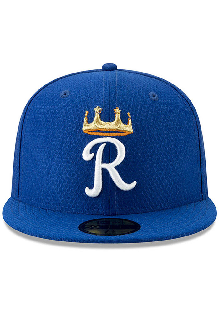 New Era Kansas City Royals Blue Batting Practice 2019 JR 59FIFTY Youth Fitted Hat - Image 2