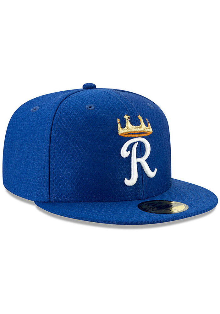 New Era Kansas City Royals Blue Batting Practice 2019 JR 59FIFTY Youth Fitted Hat - Image 3