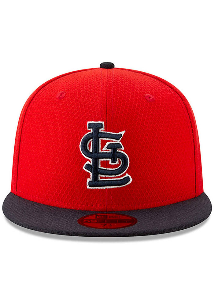New Era St Louis Cardinals Red Batting Practice 2019 JR 59FIFTY Youth Fitted Hat - Image 2