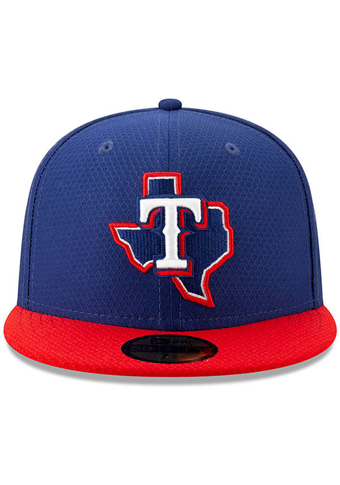 New Era Texas Rangers Blue Batting Practice 2019 JR 59FIFTY Youth Fitted Hat - Image 2