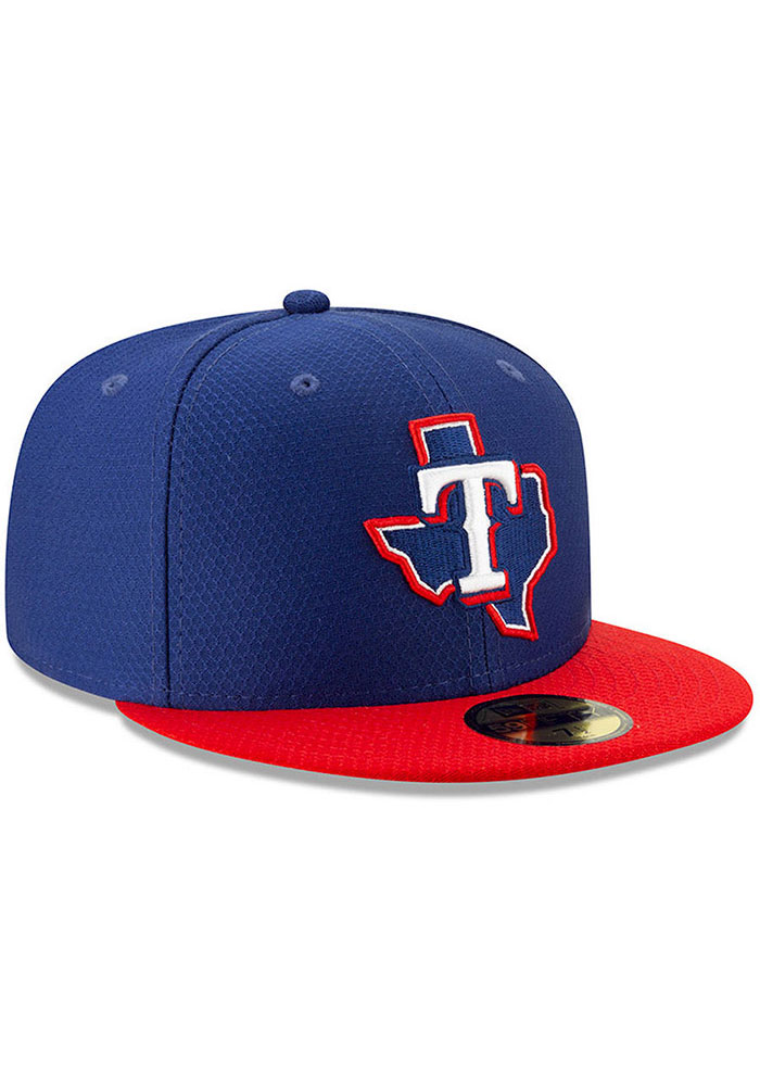 New Era Texas Rangers Blue Batting Practice 2019 JR 59FIFTY Youth Fitted Hat - Image 3