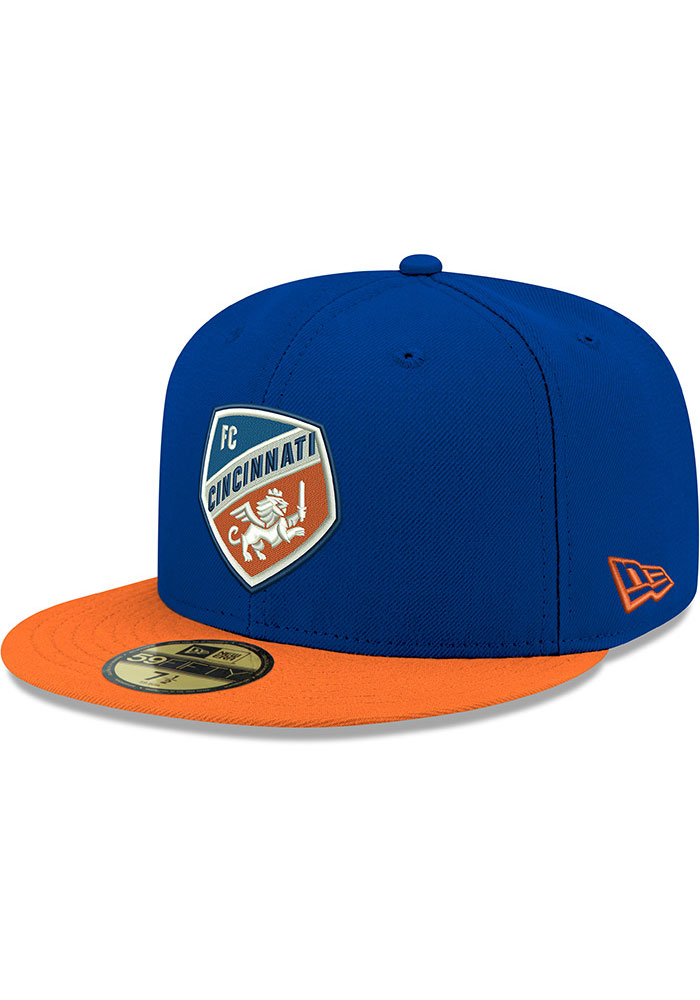 New Era FC Cincinnati Mens Blue 2T 59FIFTY Fitted Hat - Image 1
