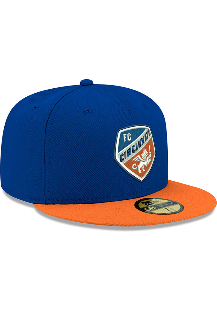 New Era FC Cincinnati Mens Blue 2T 59FIFTY Fitted Hat - Image 2