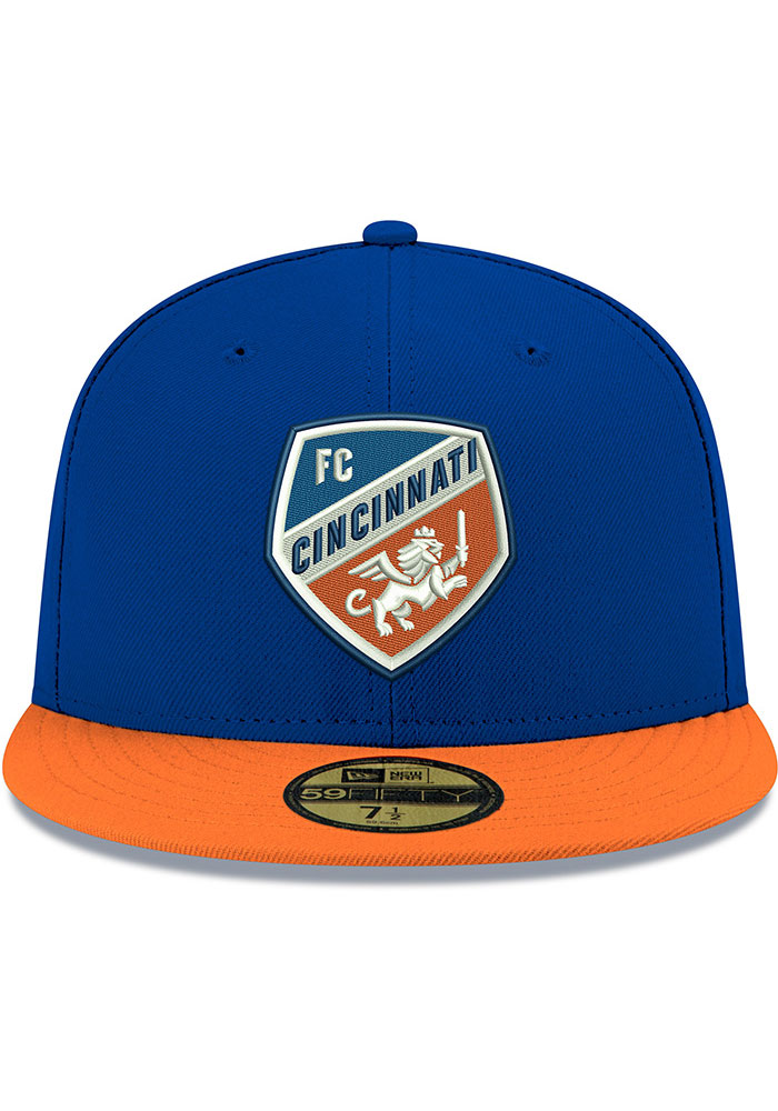 New Era FC Cincinnati Mens Blue 2T 59FIFTY Fitted Hat - Image 3