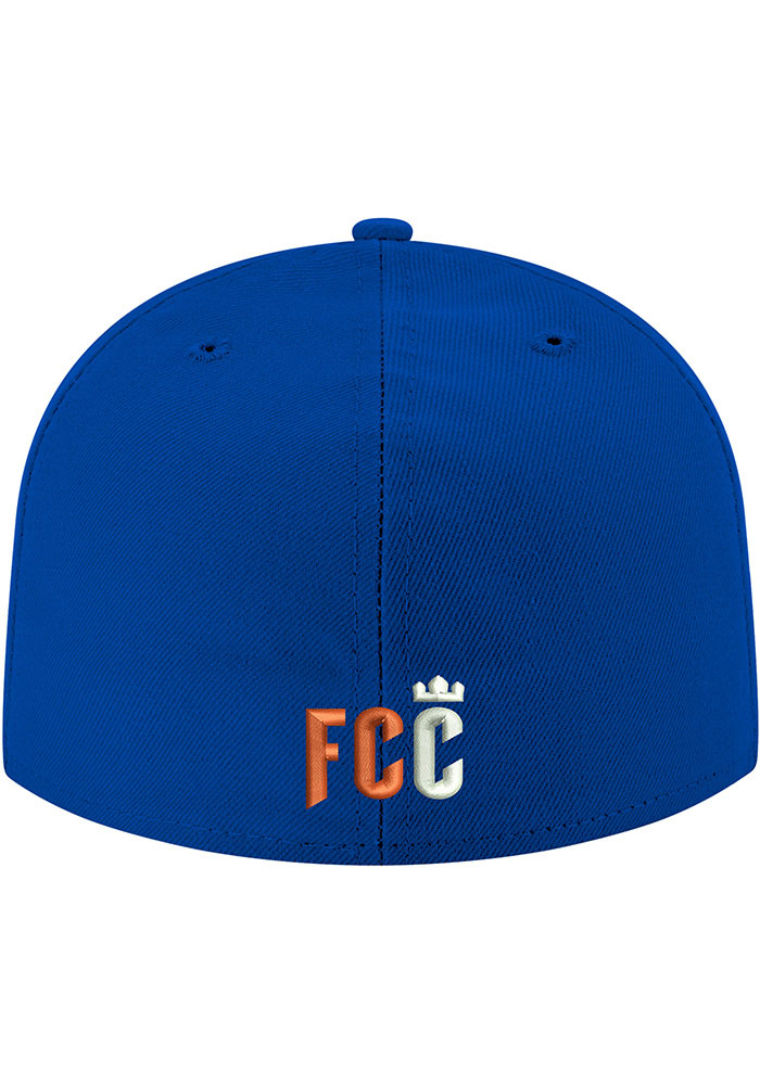 New Era FC Cincinnati Mens Blue 2T 59FIFTY Fitted Hat - Image 4