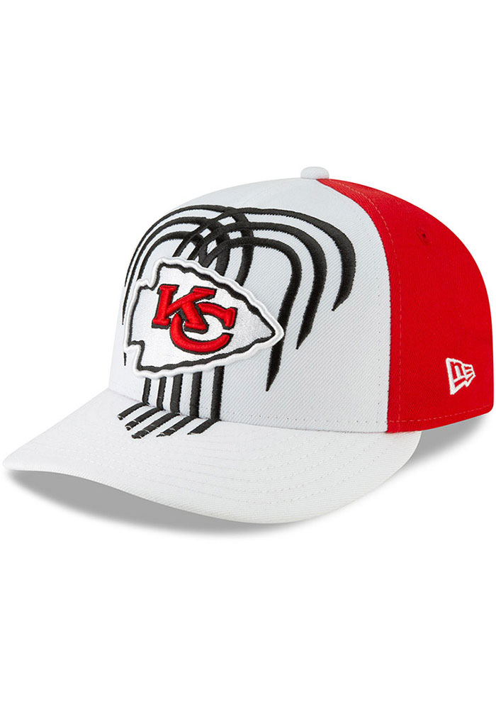 New Era Kansas City Chiefs Mens White 2019 On-Stage Draft LP59FIFTY Fitted Hat - Image 1