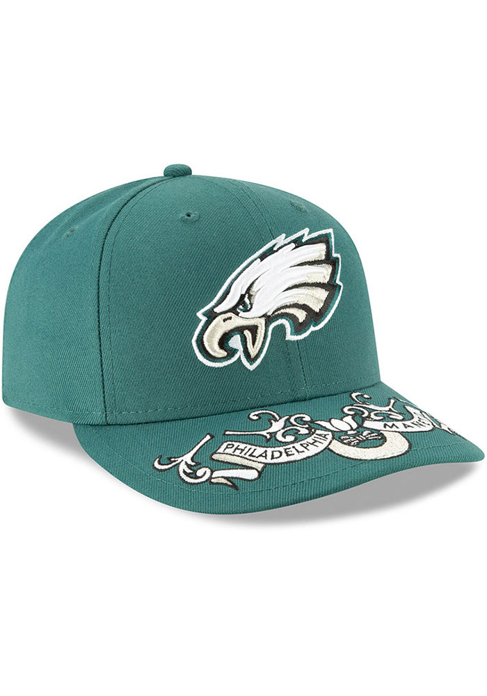 New Era Philadelphia Eagles Mens Green 2019 On-Stage Draft LP59FIFTY Fitted Hat - Image 2