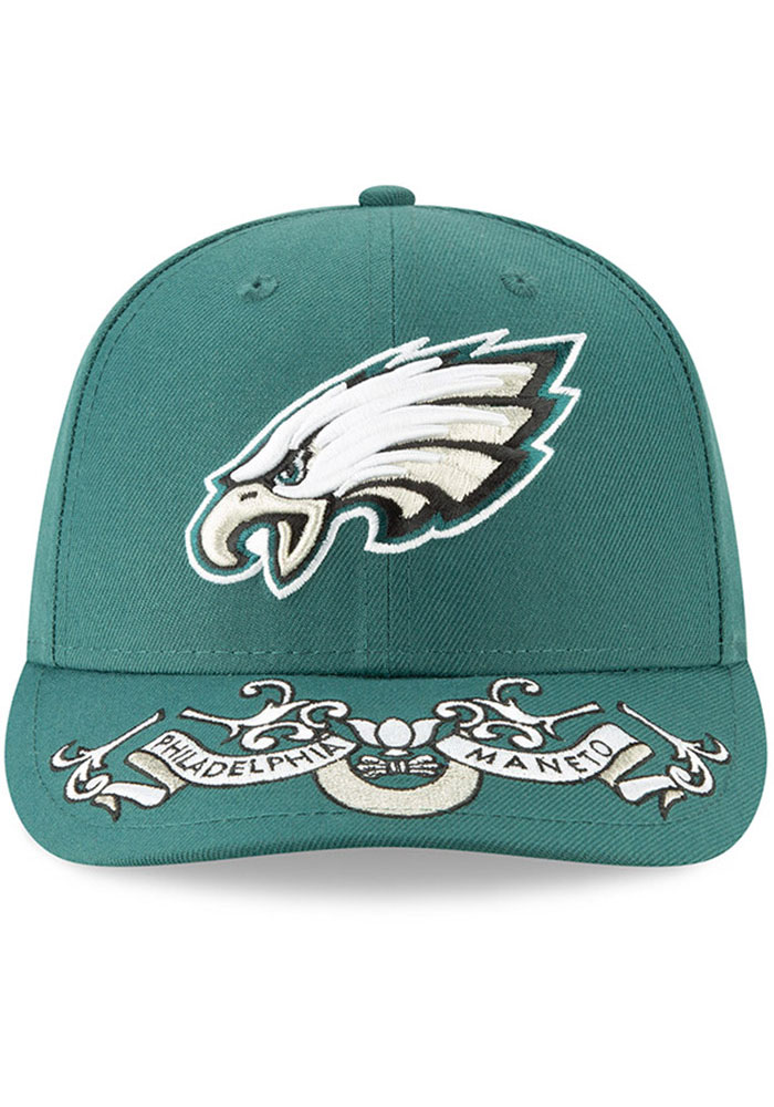 New Era Philadelphia Eagles Mens Green 2019 On-Stage Draft LP59FIFTY Fitted Hat - Image 3