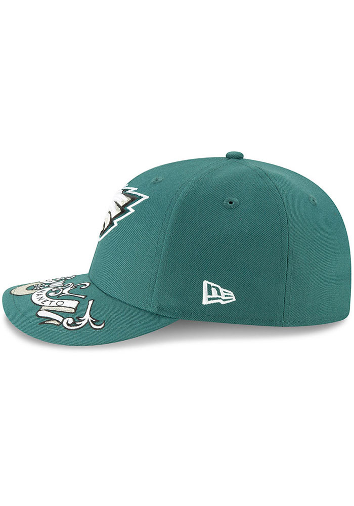 New Era Philadelphia Eagles Mens Green 2019 On-Stage Draft LP59FIFTY Fitted Hat - Image 4