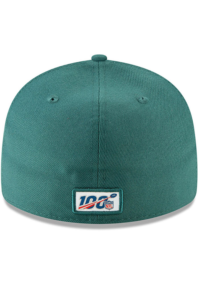 New Era Philadelphia Eagles Mens Green 2019 On-Stage Draft LP59FIFTY Fitted Hat - Image 5