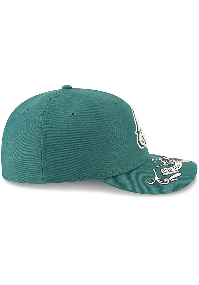 New Era Philadelphia Eagles Mens Green 2019 On-Stage Draft LP59FIFTY Fitted Hat - Image 6