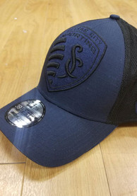 New Era Sporting Kansas City Navy Blue Mega Rip Mesh 39THIRTY Flex Hat