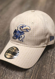 buy popular d7b81 cfc93 New Era Kansas Jayhawks Chalk Shadow Tech 9TWENTY Adjustable Hat - White