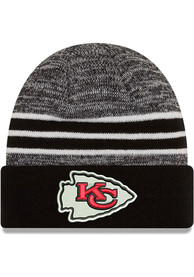 New Era Kansas City Chiefs Black Marled Cuff Knit Hat